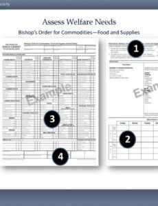 Printable Commodities Order Form Doc Example