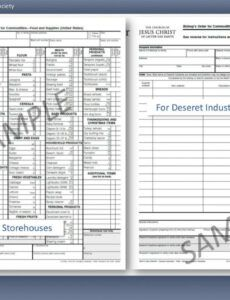 Printable Commodities Order Form Doc Sample