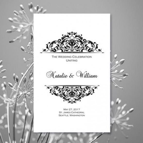 Printable Wedding Ceremony Order Template Doc