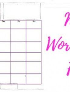 Printable Working Mom Schedule Template Excel Example