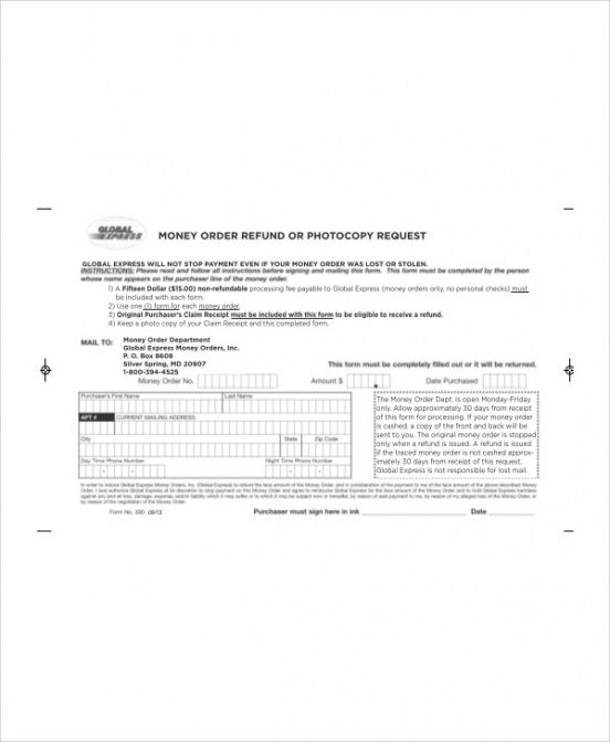 Professional Coin And Currency Order Form Word Example