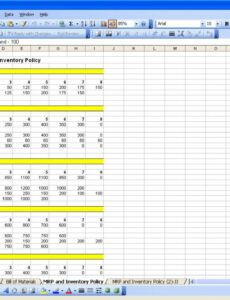 Professional Production Schedule Spreadsheet Template  Example