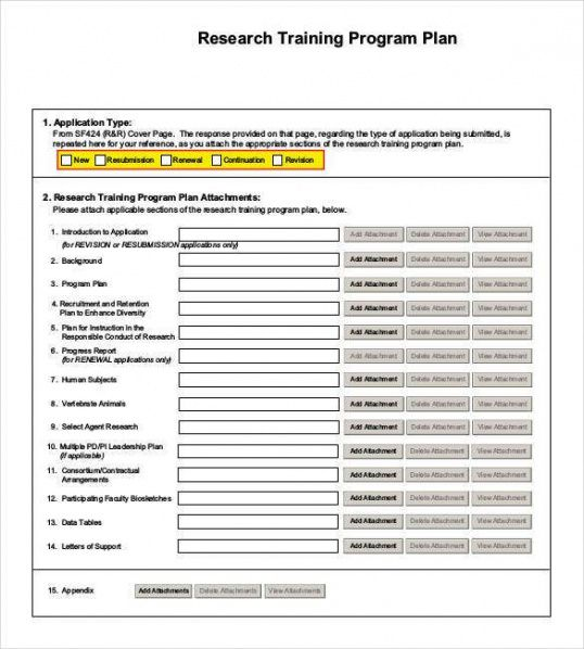 Army Training Plan Template Word