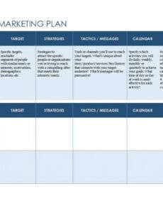 Content Marketing Plan Template Word