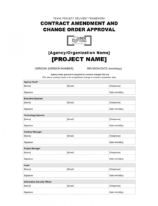 Costum Contract Change Order Template Doc Sample