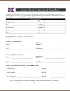 Costum Medical Emergency Response Plan Template Excel Example