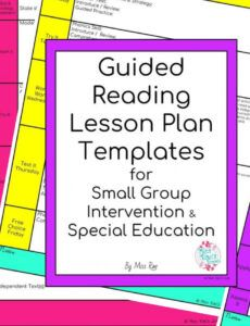 Editable Close Reading Lesson Plan Template Word Example