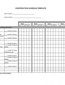 Editable Manufacturing Production Schedule Template  Sample