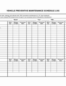Editable Preventive Maintenance Plan Template Doc Example