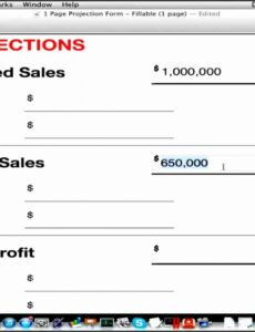 Free Business Plan Financial Projections Template Pdf Sample