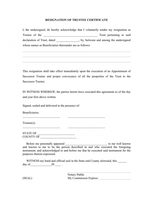 Free Voluntary Resignation Form Template Excel Sample