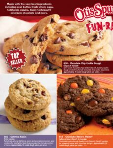 Printable Cookie Dough Order Form Doc