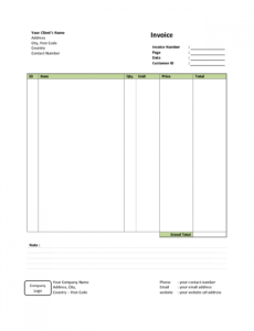 Printable Medical Bill Template Doc Example