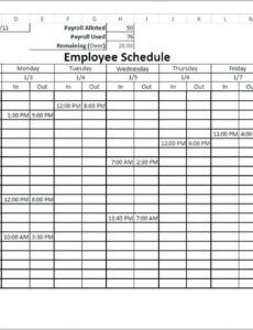 Printable Rotating Overtime Schedule Template Word