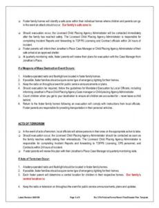 Professional Medical Emergency Response Plan Template Doc Example