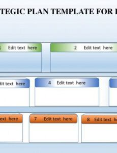 Professional Strategic Plan Outline Template Excel