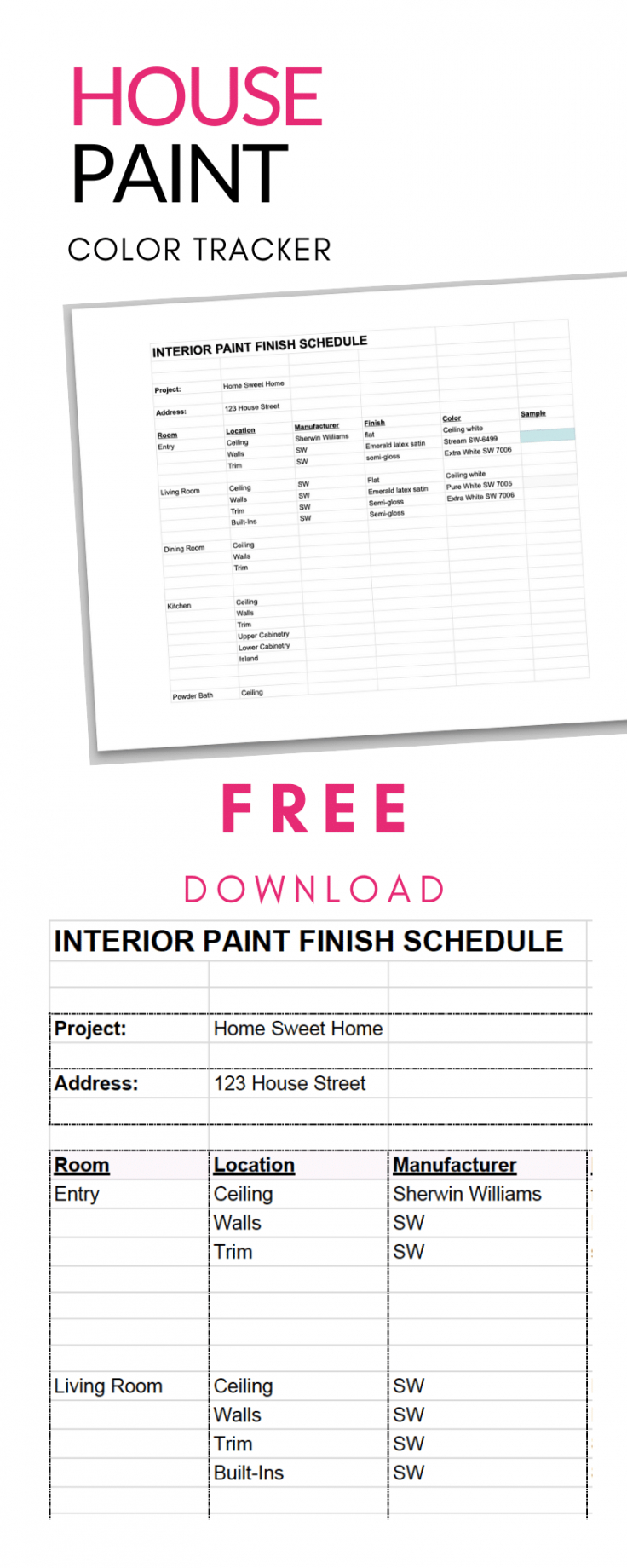 Construction Finish Schedule Template Excel Sample
