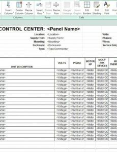 Construction Finish Schedule Template Word Sample