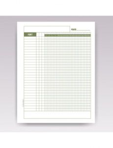 Editable Irrigation Schedule Template Doc Sample