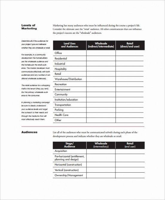 Editable Real Estate Marketing Plan Template Excel