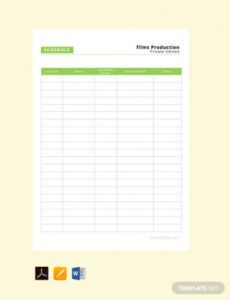 Event Production Schedule Template Pdf Example
