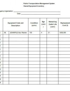 Free Tool Maintenance Schedule Template Doc Sample
