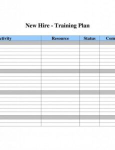 New Employee Training Plan Template Excel Sample