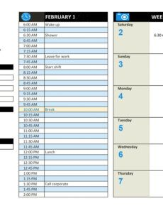Professional Event Production Schedule Template Doc Sample