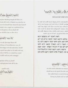 Wedding Ceremony Order Of Service Template  Sample