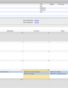 Editable Media Production Schedule Template Doc