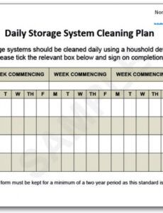appendices forms daily storage system cleaning plan dental office cleaning schedule template example