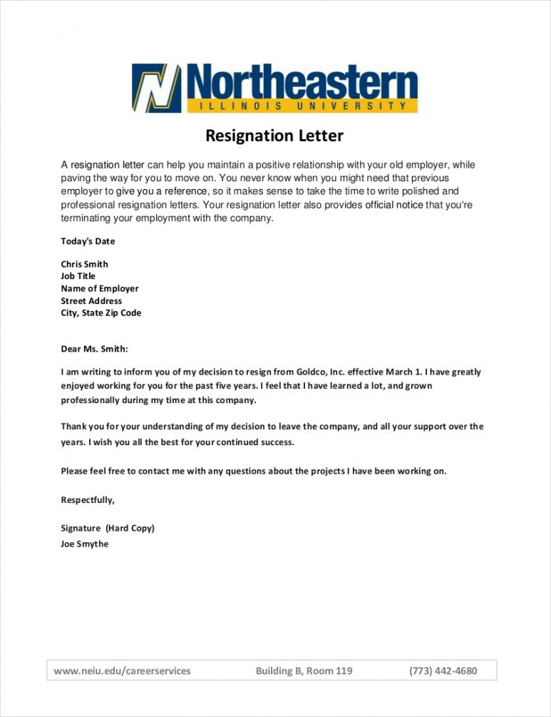 editable employee resignation letter notice period  sample official resignation letter template sample