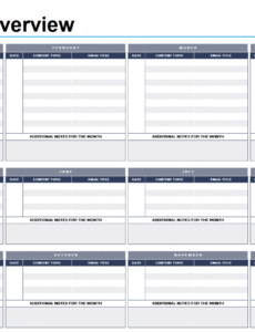 editable marketing calendars  tipsographic email marketing schedule template pdf