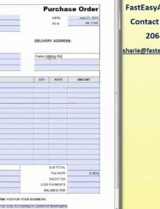 free free contractor purchase order templatefast easy stop work order template example