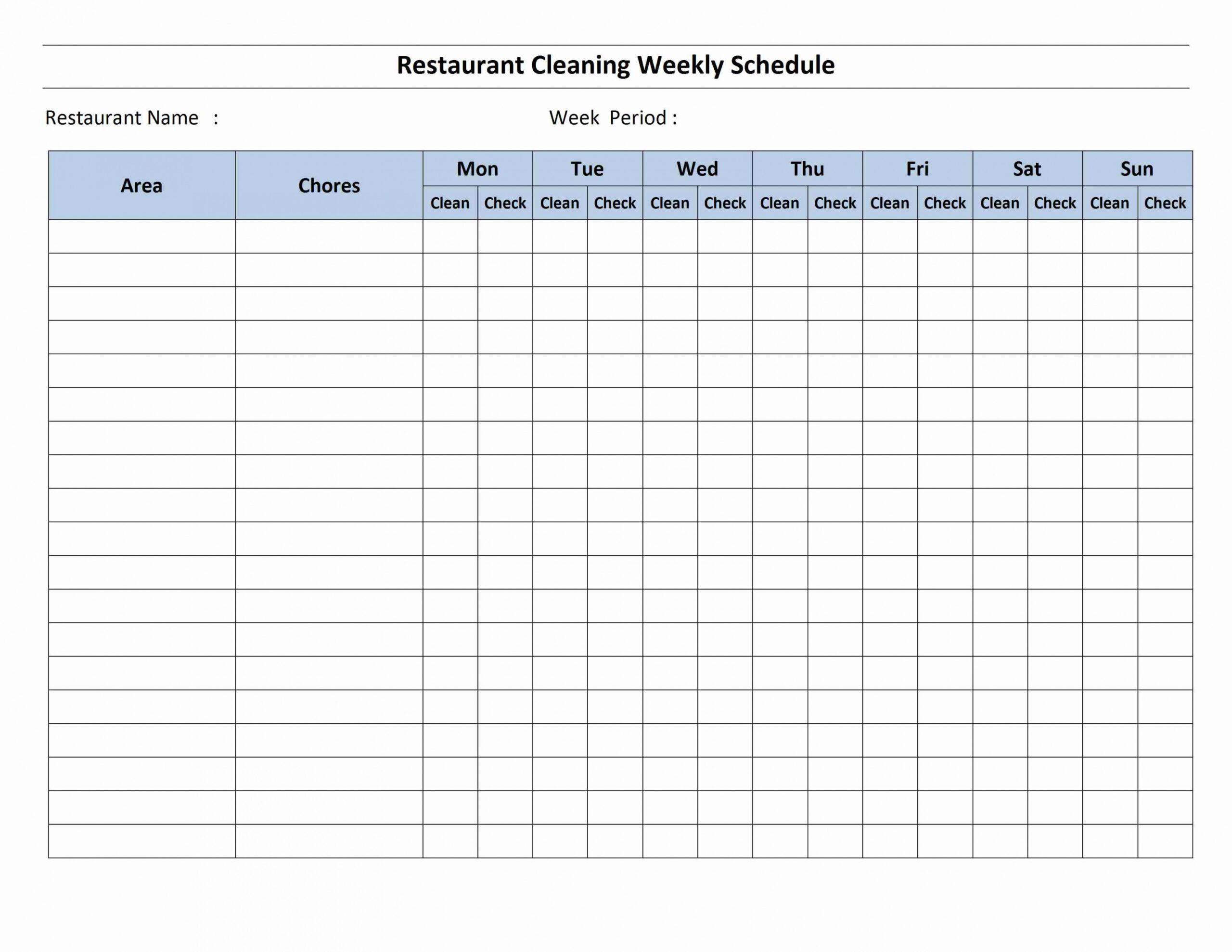 free house cleaning schedule retail employee schedule template example