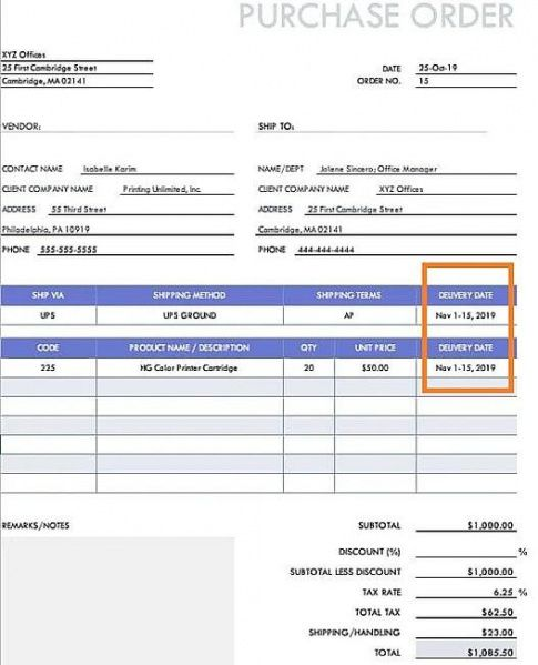 free purchase order what it is & how to create one template blanket purchase order template excel