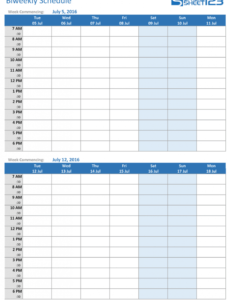 printable printable weekly and biweekly schedule templates for excel retail employee schedule template pdf