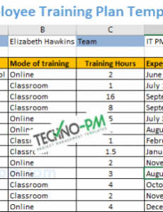printable training plan template excel download  tutore staff training schedule template example