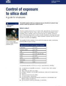 sample new guidance on site silica dust danger  pp construction silica exposure control plan template excel