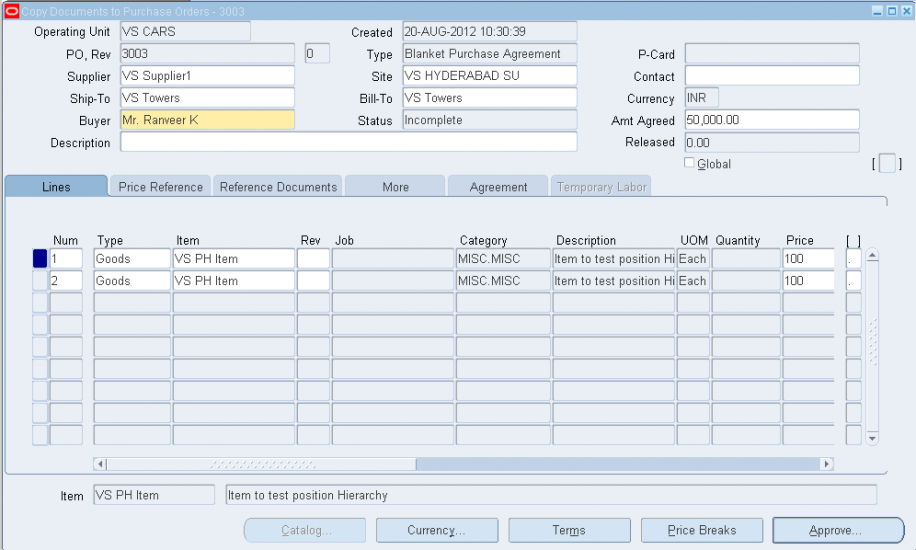 vipul's oracle apps blog blanket purchase order blanket purchase order template example