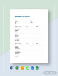 13 basketball schedule templates & samples  doc pdf basketball practice schedule template doc