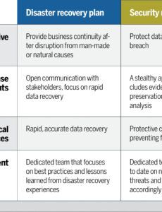 editable disaster recovery vs security recovery plans why you cyber security action plan template word