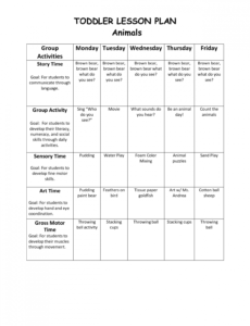 editable free toddlers lesson plan templates toddler plans for after school lesson plan template doc