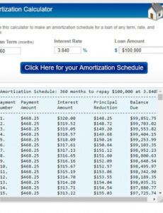 free amortization schedule template  free word templates schedule of insurance template word