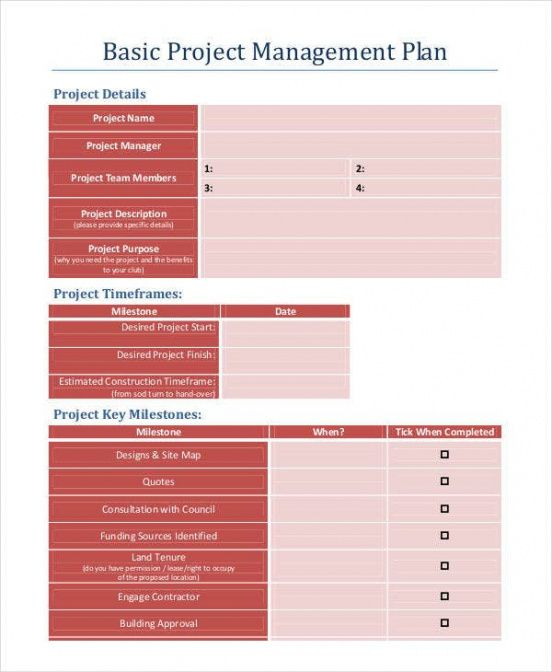 free project management templates  9 free word pdf documents file plan template