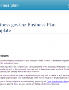 printable best business plan template template for writing a business plan pdf