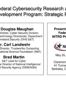 printable ppt  federal cybersecurity research and development cyber security action plan template example