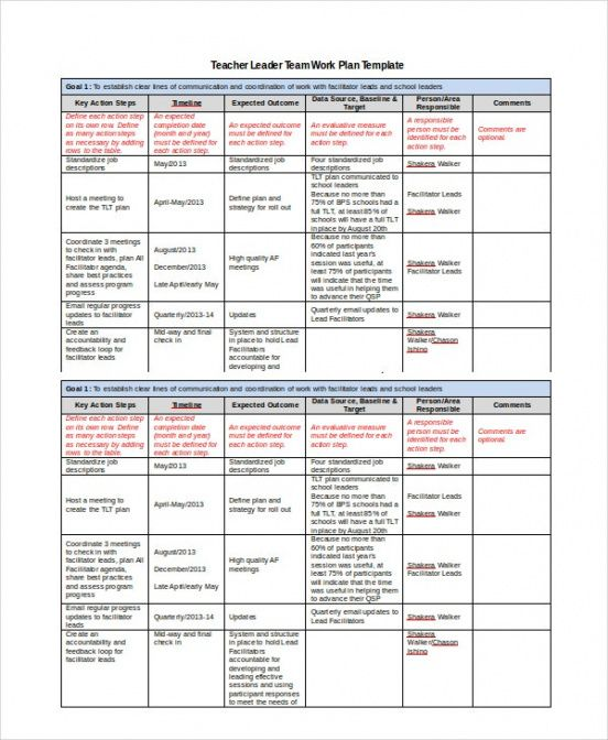 printable work plan template  11 free pdf word documents download file plan template excel